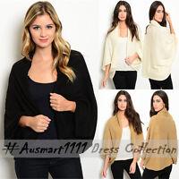 Womens Winter Oversized Knitwear Sweater Jumper Open Front Cardigan Wrap Poncho