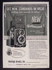 1955 Rollei ROLLEICORD V Camera & rolleimarin sott 'acqua VINTAGE PRINT AD