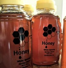 Raw Natural Organic Honey Clover From Our Hives To Your Table TWO 1lb Bottles