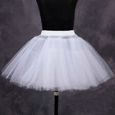 Flower Girl Kid Bridesmaid 4 Layer Hoopless White Underskirt Petticoat One Size