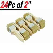 """24 Pc of 2"""" Chip Brush Brushes Perfect for Adhesives Paint Touchups  2 Inch"""