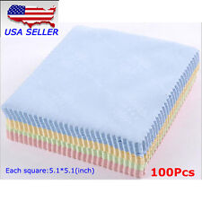 100pc Microfiber Phone Screen Camera Lens Glasses Cleaning Cloth Square CleanerS
