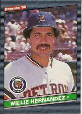 1986 Donruss Wax Box Card Willie Hernandez PC5 Tigers