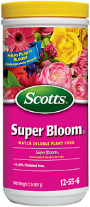 Scotts Super Bloom Water Soluble Plant Food Fertilizer for Flowers Plant 2 lbs