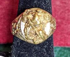 1930 Mens 10k & 22k Natural Gold Nugget Ostby & Barton Eagle Ring