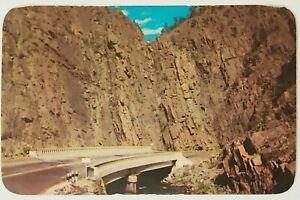 Curved Bridge Big Thompson Rocky Mountain National Park Colorado posted Postcard