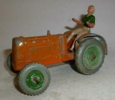 Crescent Vintage Diecast Farm Tractor With Driver - 1940/50'S