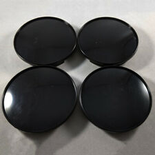 4PCS 68mm Universal ABS Car Wheel Center Hub Caps Covers Set No Emblem Black