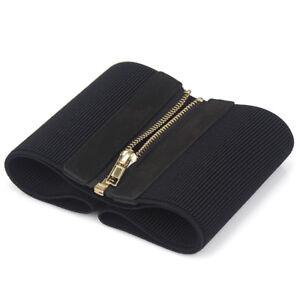 Lady Wide Cummerbund Waist Belt Elastic Corset Zip Up Stretch Waistband Fgg01