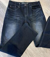 Men's Affliction Denim Jeans Black Wash Sz 34x33 Skull Design