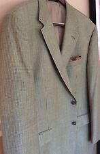 """ Ralph Lauren Chaps""A Stylish Khaki Mini Houndstooth Sport Coat 46R Silk & Wool"