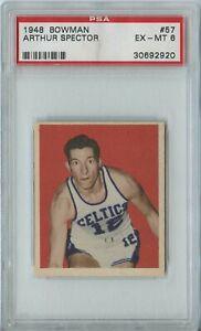 Arthur Spector 1948 Bowman Basketball #57 Boston Celtics EX-MT PSA 6