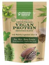 Organic Vegan Pea Rice Hemp Protein Shake Natural Raw Cacao Superfood Chocolate
