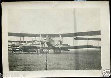 guerre 1914-1918 . photo avion biplan