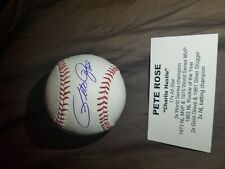 Pete Rose Autograph Signed National League Baseball AUTO TRISTAR