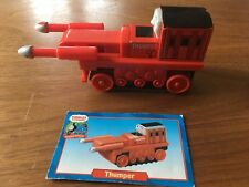 THUMPER Thomas & Friends Wooden Railway Trains 2001 Learning Curve +CARD retired
