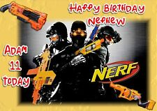 Personalised birthday card Nerf guns son grandson son  boy friend b