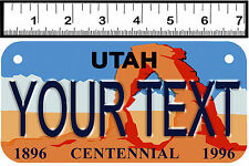 PERSONALIZED ALUMINUM MOTORCYCLE STATE LICENSE PLATE-UTAH CENTENNIAL