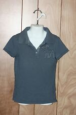 GIRL'S ABERCROMBIE SHORT SLEEVE POLO SHIRT-SIZE: SMALL