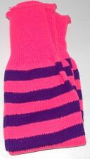 Ladies Girls Striped Leg Warmers Acrylic Size 4-7 UK Choice of colour