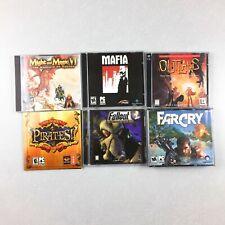 PC CD Rom Games Lot Of 6 Far Cry Fallout 2 Outlaws Mafia Pirates Might & Magic