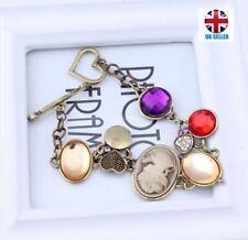 UK Lightweight Vintage Queens Head Colour Gem Bracelet