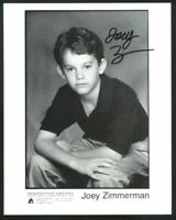 Joey Zimmerman Sci-Fi child actor star Signed Autographed photo EARTH 2 vintage