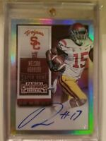 Nelson Agholor 2015 Contenders Super Bowl Ticket #d 1/1 rookie rc card auto