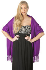 Central Chic Purple Cashmere Scarf Pashmina Shawl Wrap UK Seller & Fast Delivery