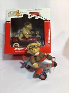lot of 2 Cherished Teddies CHAD bear in Airplane & Radio Flyer Americas Promise