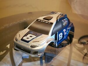 Losi LOSB1794 1/24 4WD Rally Painted Body, Silver/Blue Micro Rally
