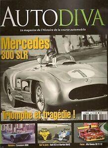 AUTODIVA 16 MERCEDES 300 SLR ALFA ROMEO 33TT12 RALT RT3 MARTINI MK42 MARCADIER