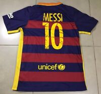 Men's FC Barcelona Home MESSI #10 Football Soccer Sz M Jersey 2015/2016 shirt