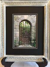 Paris Photography, Paris Garden Scene, Vintage Wooden Frame, Paris Decor