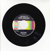 BING CROSBY Vinyl 45T GOD REST YE MERRY GENTLEMEN -WHITE CHRISTMAS - DECCA 23778