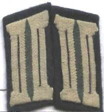 German Army WW2 Black piped pair collar tabs pioneer GREEN BACKGROUND