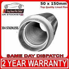"""50mm x 150mm (2"""" x 6"""") Universal Lined Flex Flexi Joint for Exhaust Repair"""