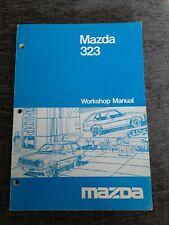 MAZDA 323 GENUINE WORKSHOP MANUAL ORIGINAL DEALER ISSUE UNUSED 1976 RARE ITEM