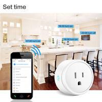Smart US/EU Plug Socket Wifi Power Switch Voice Control APP Remote Mini Outlet