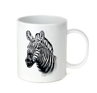 Coffee Cup Mug Travel 11 15 oz Nature Zoo Zebra Animals Face