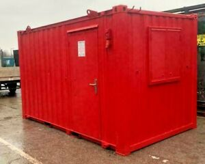 12ft x 8ft Anti Vandal Open Office Container - Salford - All Colours