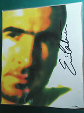"""ERIC CANTONA - MANCHESTER UNITED SIGNED POP ART PIECE SIGNED BY ERIC 12"""" x 10"""" *"""