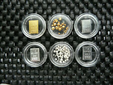 *NEU* GOLD PLATIN PALLADIUM SILBER Kapseln Nuggets Granulat Sammeln Geld aurum
