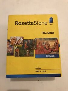 Rosetta Stone Italian Level 1 & 2 & 3 Set PC, Mac NO HEADPHONES