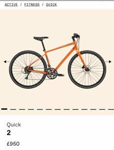 2021 Cannondale Quick 2 CRUSH Hybrid Bike, Hydraulic Disc Brakes SHIMANO, LARGE