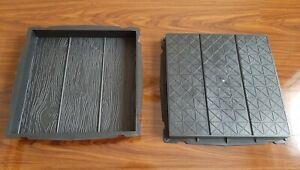 CONCRETE PAVING GARDEN PATH SLAB BRICK PLASTIC FLOOR TILE MOULD 40cm x 40cm x5)