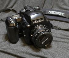 Pentax 645N Medium Format Slr Film Camera + 75mm A Lens + Extras