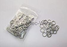 100 pièces bord en Aluminium bagues d'étanchéité joints al 10X14x1, 0mm din7603