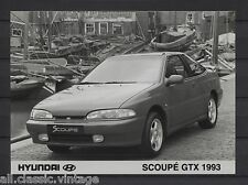 PRESS - FOTO/PHOTO/PICTURE - Hyundai Scoupe GTX 1993