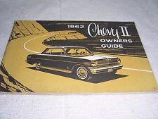 1962 VINTAGE CHEVY II ORIGINAL OWNER'S MANUAL